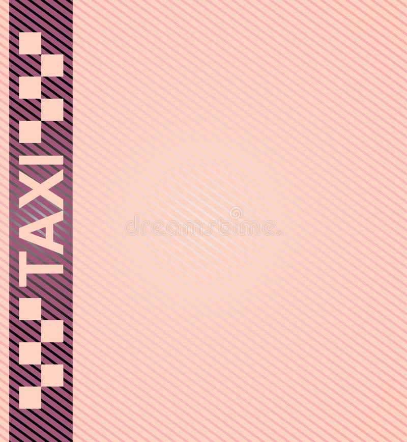 Taxi stock illustration