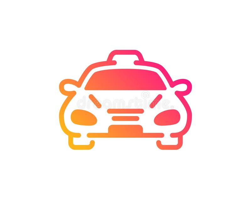 Taxi cab transport icon. Car vehicle sign. Vector. Taxi cab transport icon. Car vehicle sign. Taxicab driving symbol. Classic flat style. Gradient taxi icon royalty free illustration