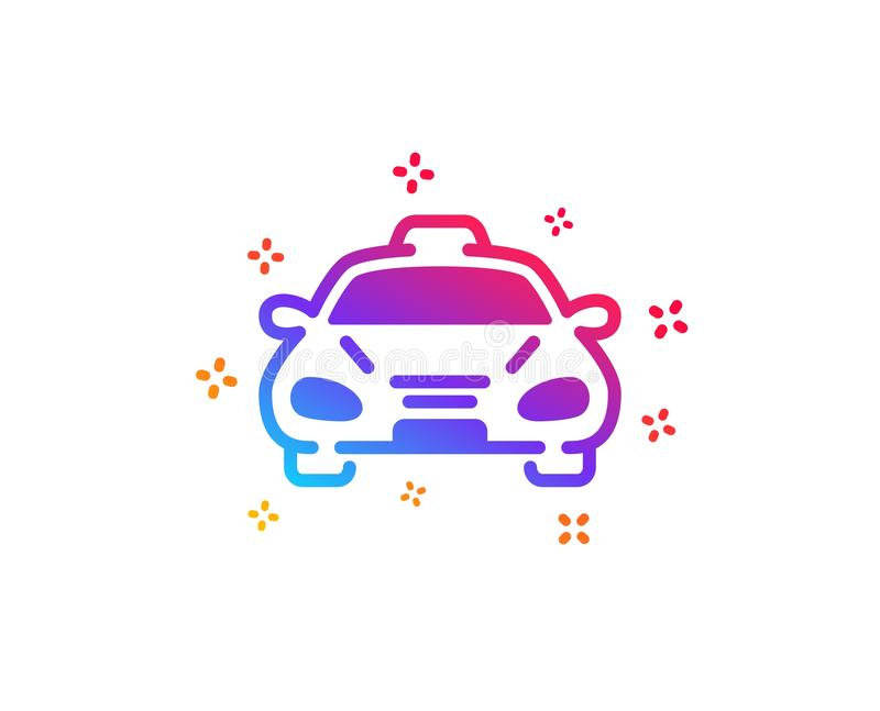 Taxi cab transport icon. Car vehicle sign. Vector. Taxi cab transport icon. Car vehicle sign. Taxicab driving symbol. Dynamic shapes. Gradient design taxi icon royalty free illustration