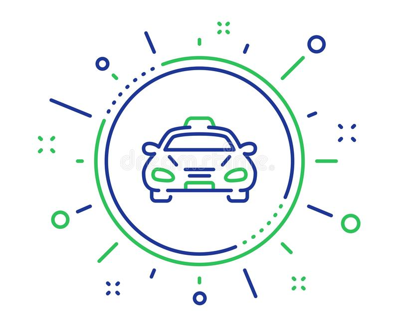 Taxi cab transport line icon. Car vehicle sign. Vector. Taxi cab transport line icon. Car vehicle sign. Taxicab driving symbol. Quality design elements vector illustration