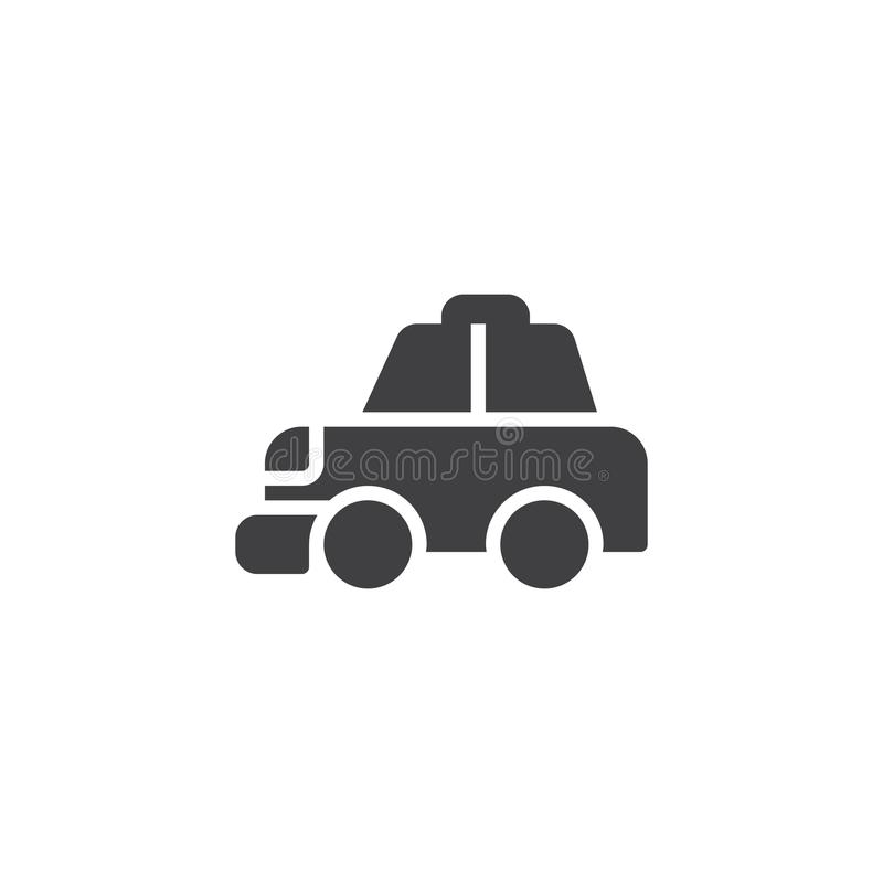 Taxi cab vector icon. Filled flat sign for mobile concept and web design. Transportation simple solid icon. Symbol, logo illustration. Pixel perfect vector royalty free illustration