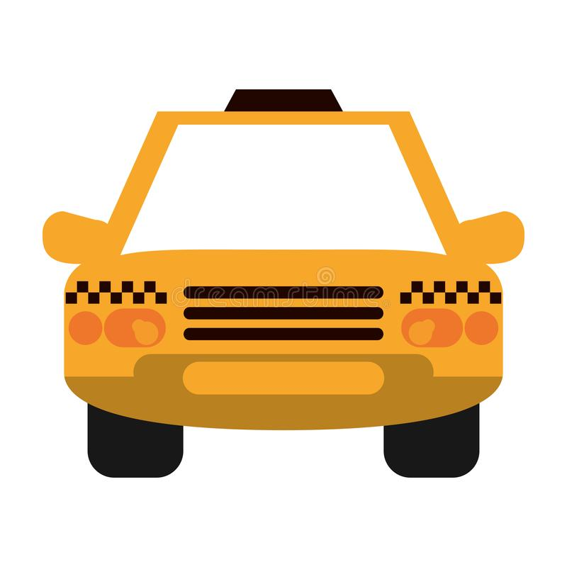 Taxi cab vehicle frontview. Symbol vector illustration graphic design royalty free illustration