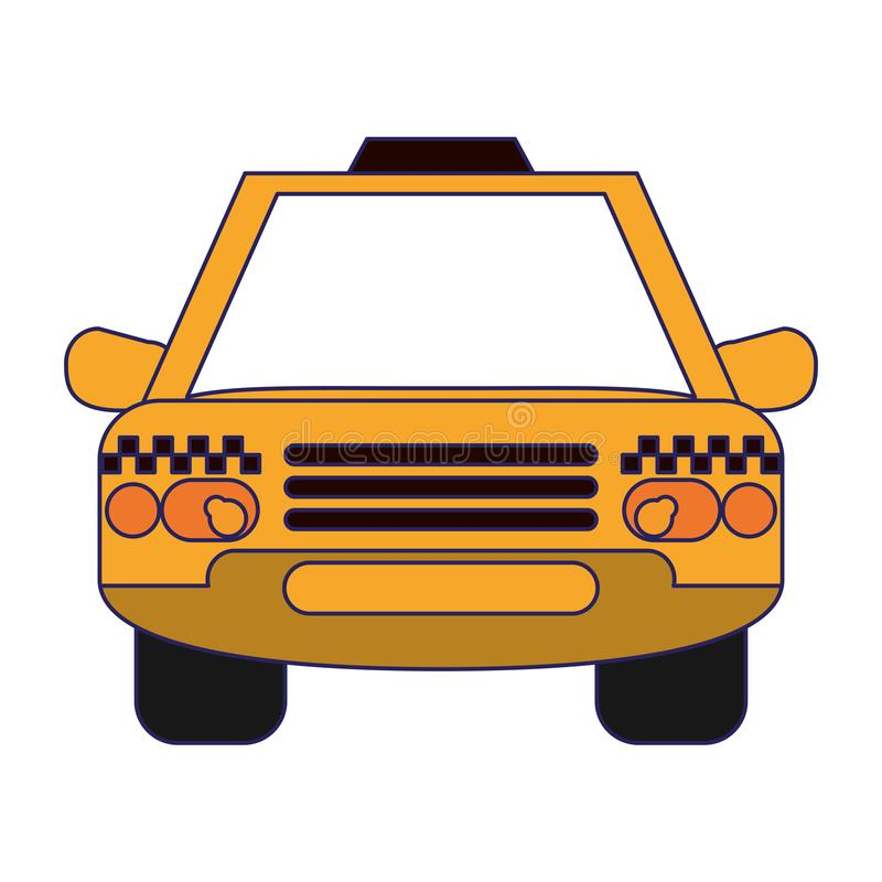 Taxi cab vehicle frontview. Symbol vector illustration graphic design vector illustration