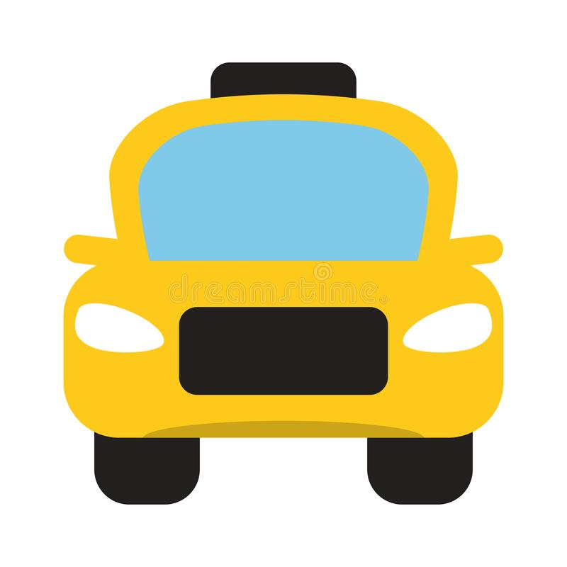 Taxi cab vehicle frontview. Vector illustration graphic design vector illustration