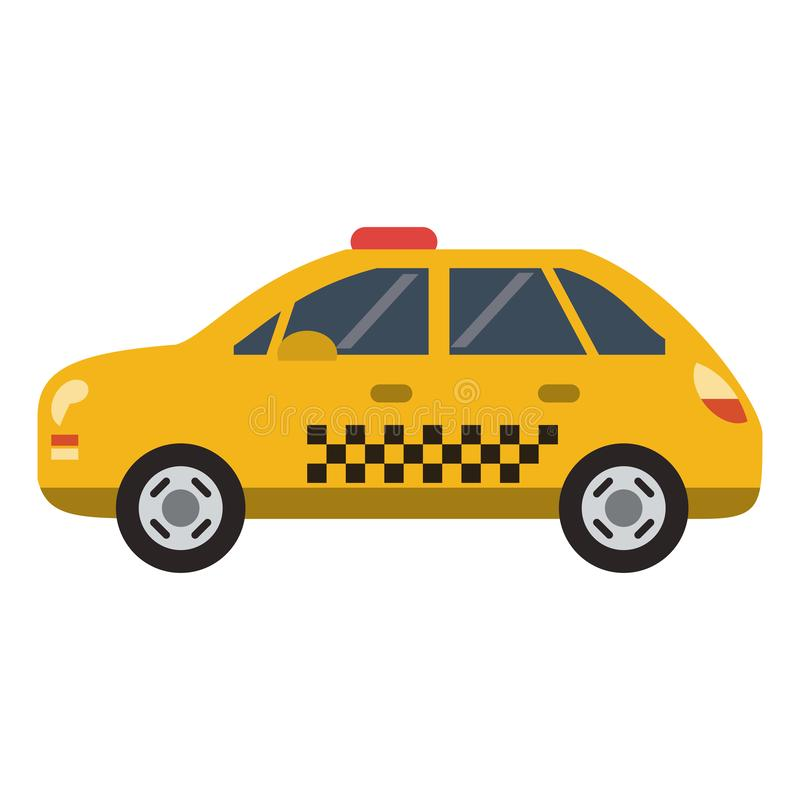 Taxi cab vehicle isolated flat. Taxi cab vehicle isolated vector illustration graphic design vector illustration