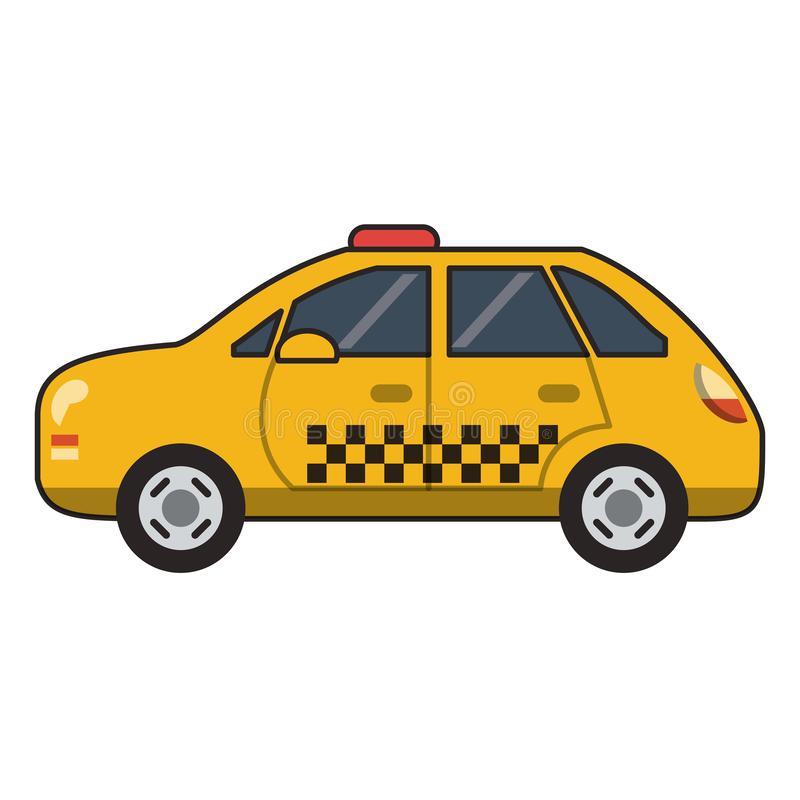 Taxi cab vehicle isolated. Vector illustration graphic design stock illustration