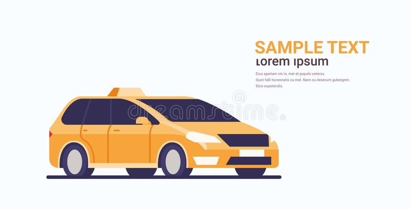 Taxi car icon cab automobile passenger transportation service concept flat horizontal copy space. Vector illustration vector illustration