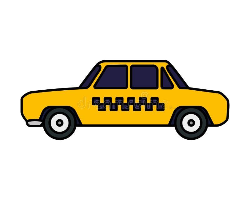 Taxi car public service. Vector illustration design stock illustration