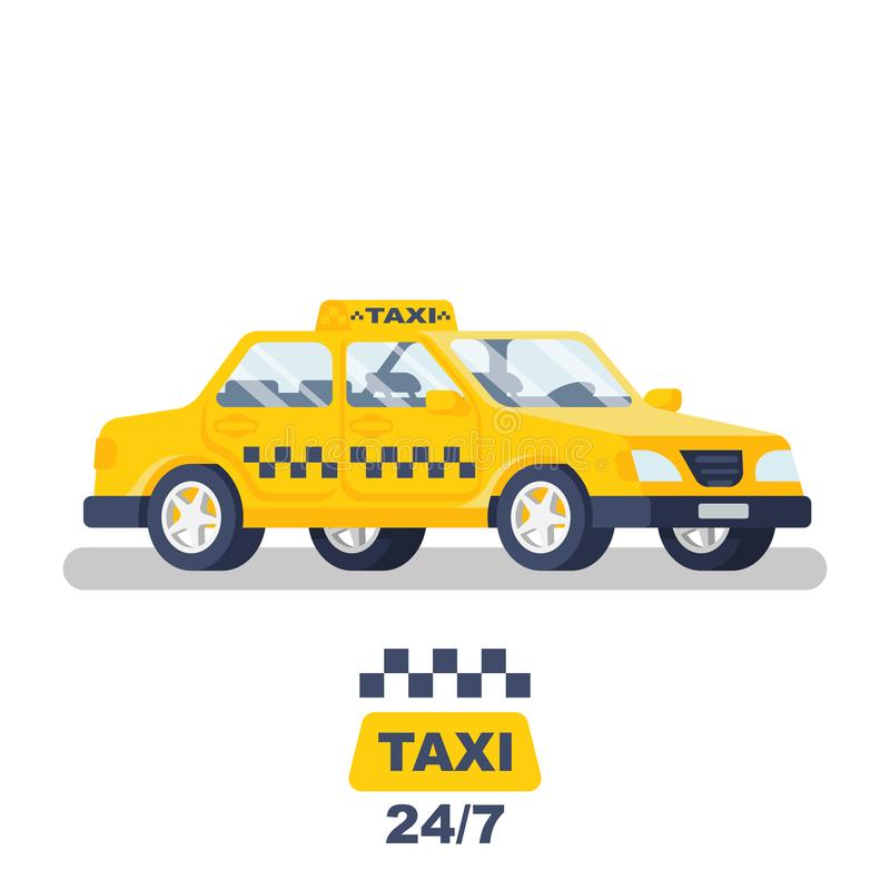Taxi car. Taxi service. Vector royalty free illustration