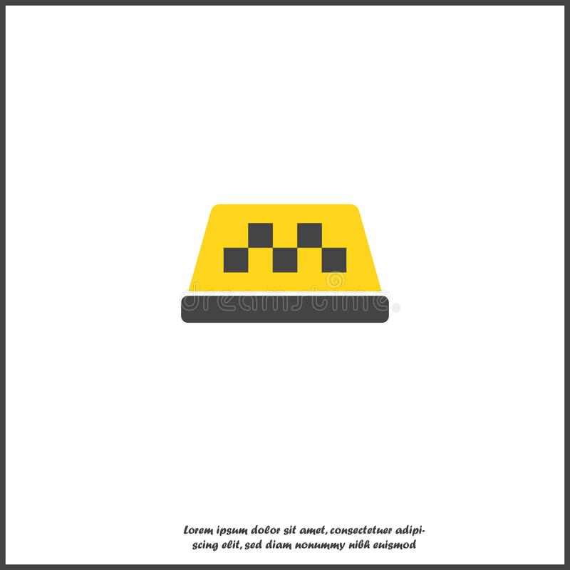 Taxi checkers vector icon. On white isolated background. Layers grouped for easy editing illustration on white isolated background vector illustration
