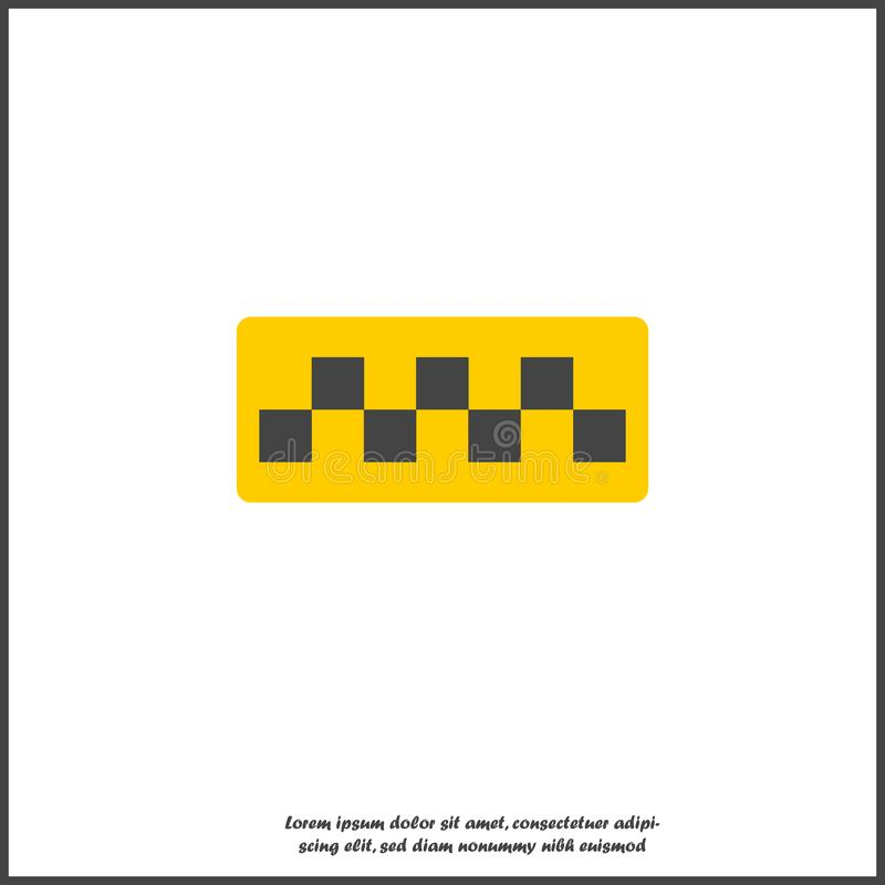 Taxi checkers vector icon on white isolated background. Layers grouped for easy editing illustration. For your design vector illustration