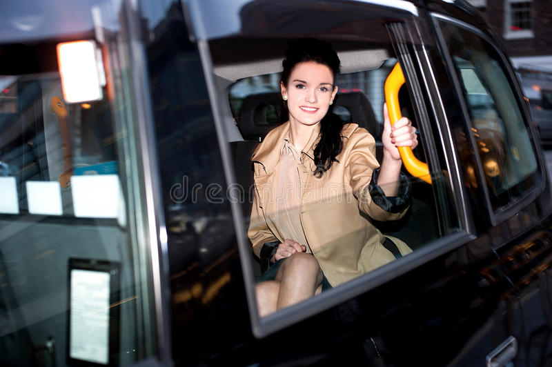 Taxi comfortable for city ride. royalty free stock image