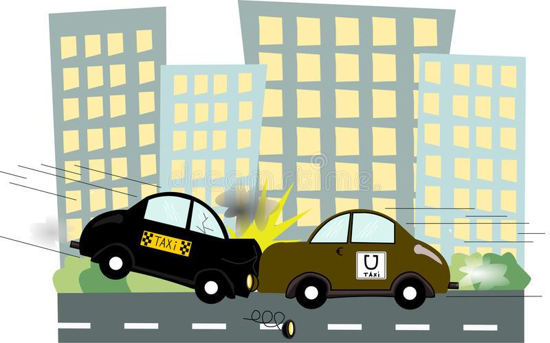 Taxi d'Uber illustration stock