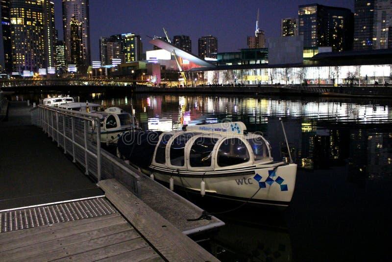Taxi de l'eau de Melbourne images libres de droits