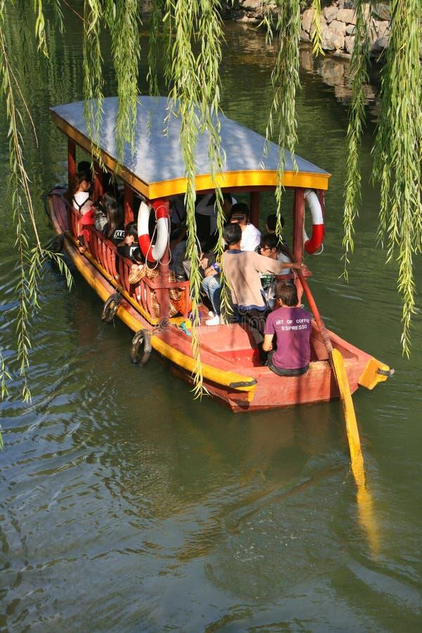 Taxi de l'eau sur le canal photos stock