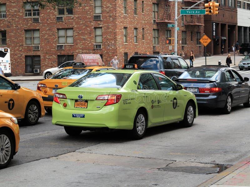 Taxi de New York City imagen de archivo