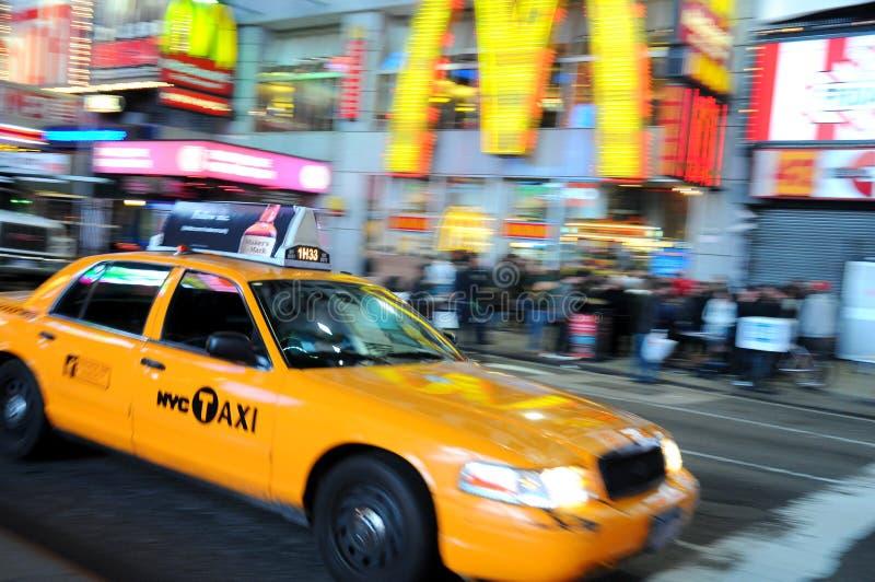 Taxi de New York City, taxi jaune photographie stock libre de droits