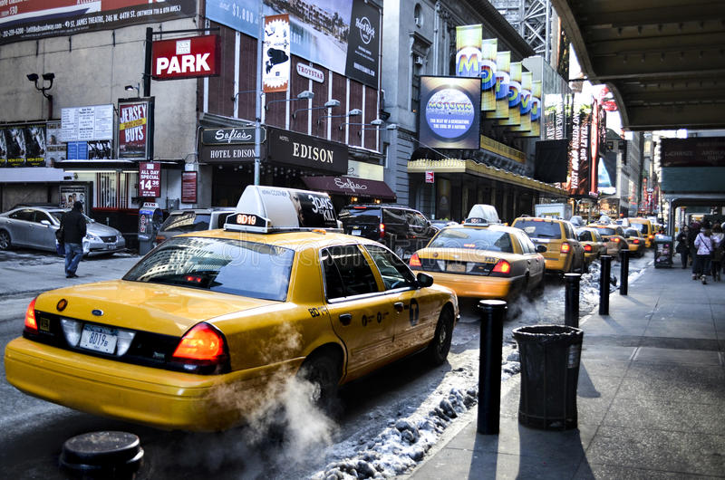 Taxi de Nueva York fotografía de archivo libre de regalías