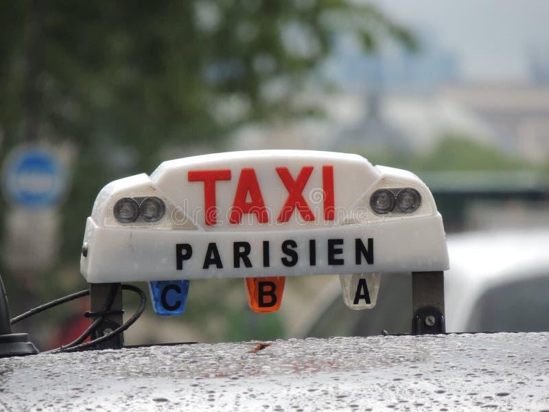 Taxi de París fotografía de archivo