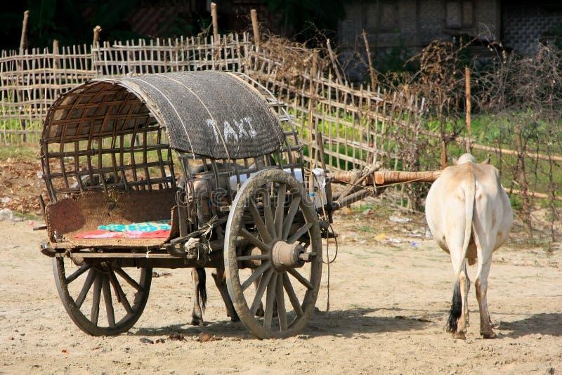 Taxi de touristes dans Mingun, Mandalay, Myanmar image stock