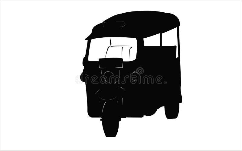 Taxi de tricycle de Tuk Tuk illustration de vecteur