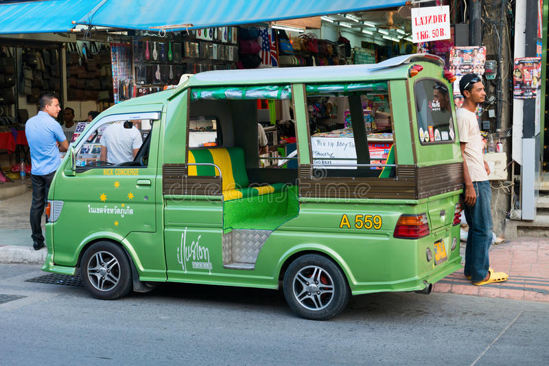 Taxi de tuk de Tuk à Phuket, Thaïlande images libres de droits