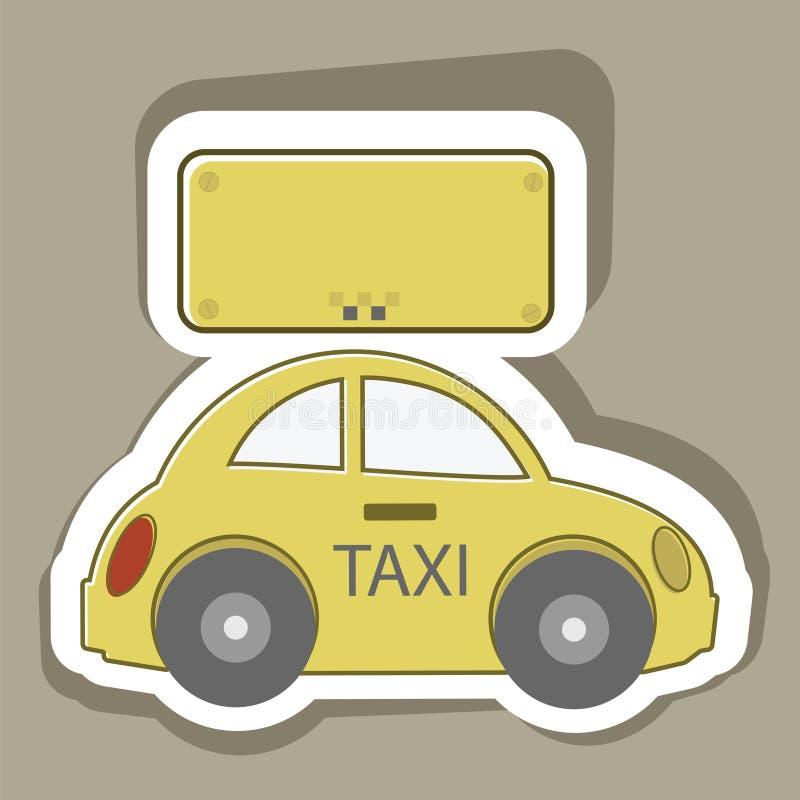 Taxi de voiture illustration libre de droits