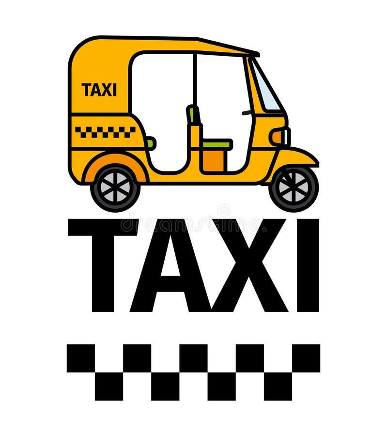 Taxi del carrito de Tuktuk stock de ilustración