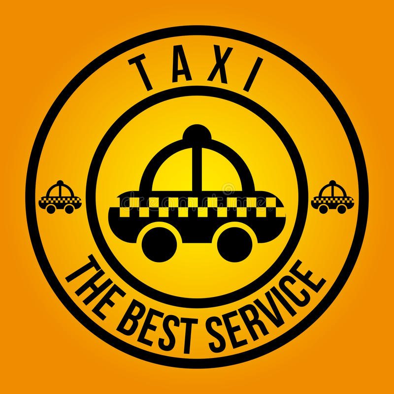 Taxi design. Taxi graphic design , vector illustration stock illustration