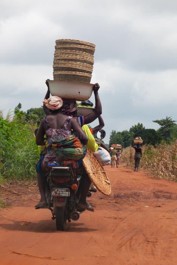 Taxi di Zemidjan nel Benin fotografie stock libere da diritti