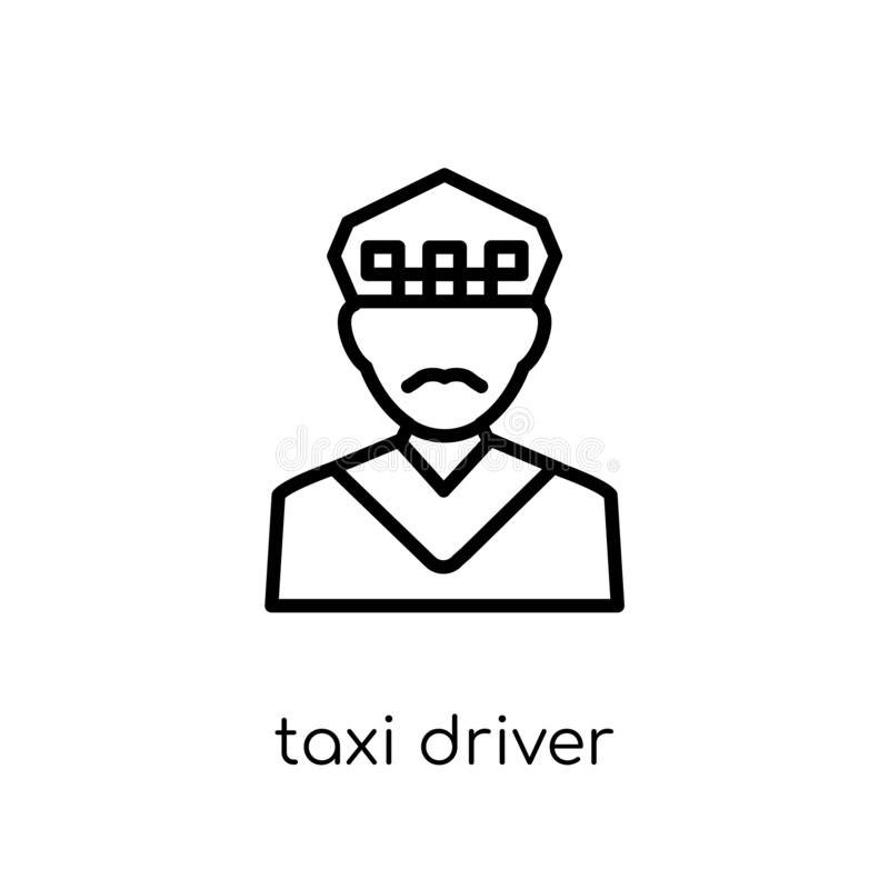 Taxi driver icon. Trendy modern flat linear vector Taxi driver i stock illustration