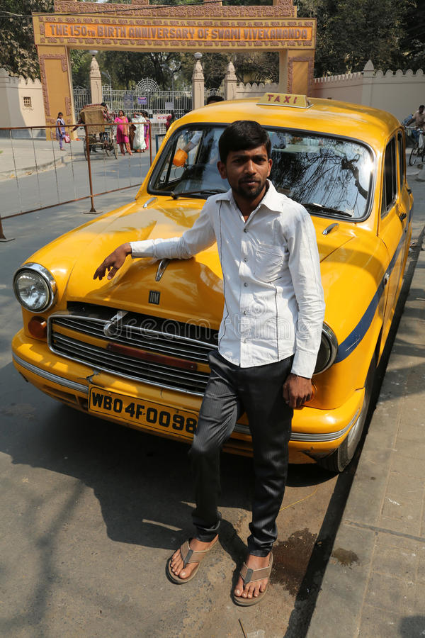 Taxi driver, Kolkata royalty free stock image