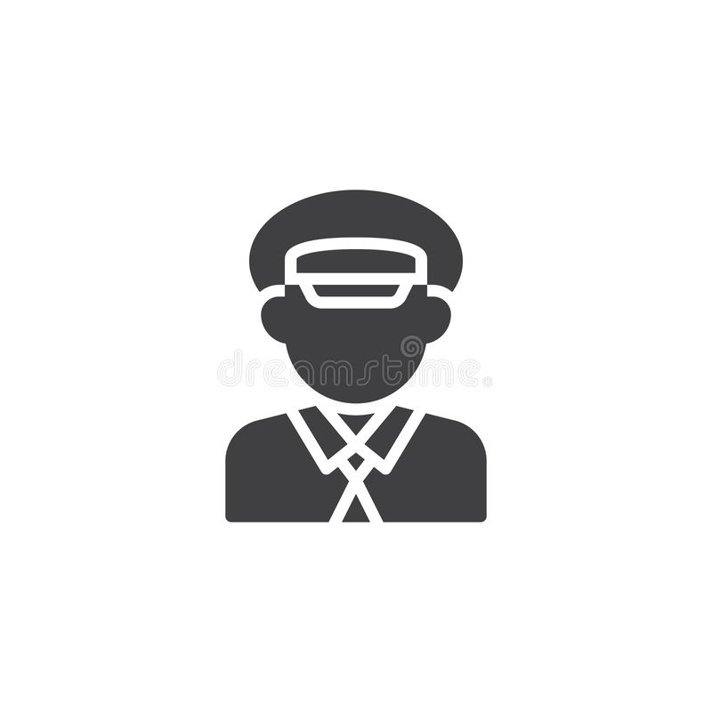 Taxi driver profile vector icon. Filled flat sign for mobile concept and web design. Cab driver glyph icon. Faceless people avatar symbol, logo illustration royalty free illustration