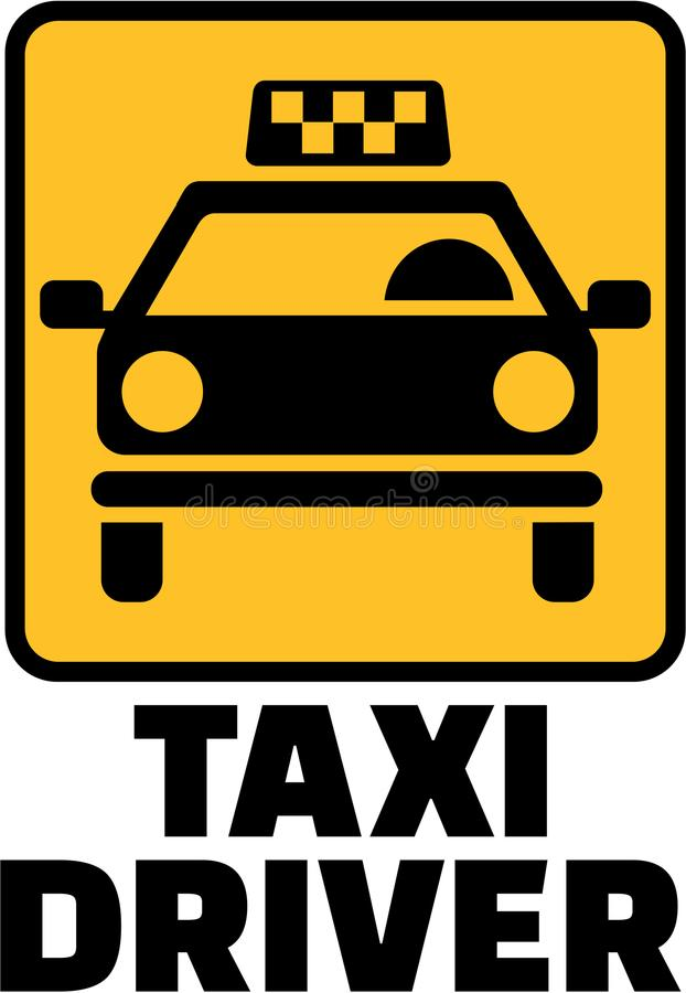 Taxi driver with yellow cab icon. Vector vector illustration