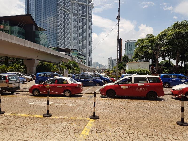 Taxi en Kuala Lumpur fotografía de archivo libre de regalías
