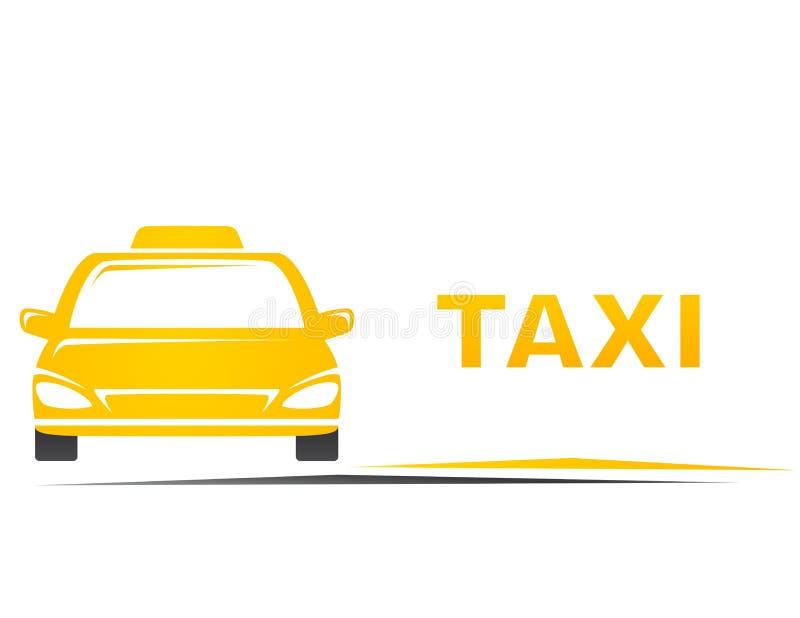 Taxi en lege plaats stock illustratie