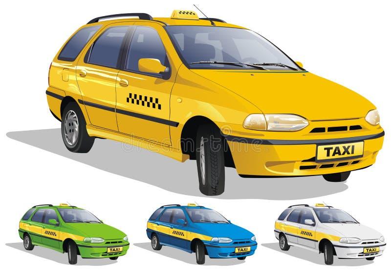 Taxi en tres variantes libre illustration