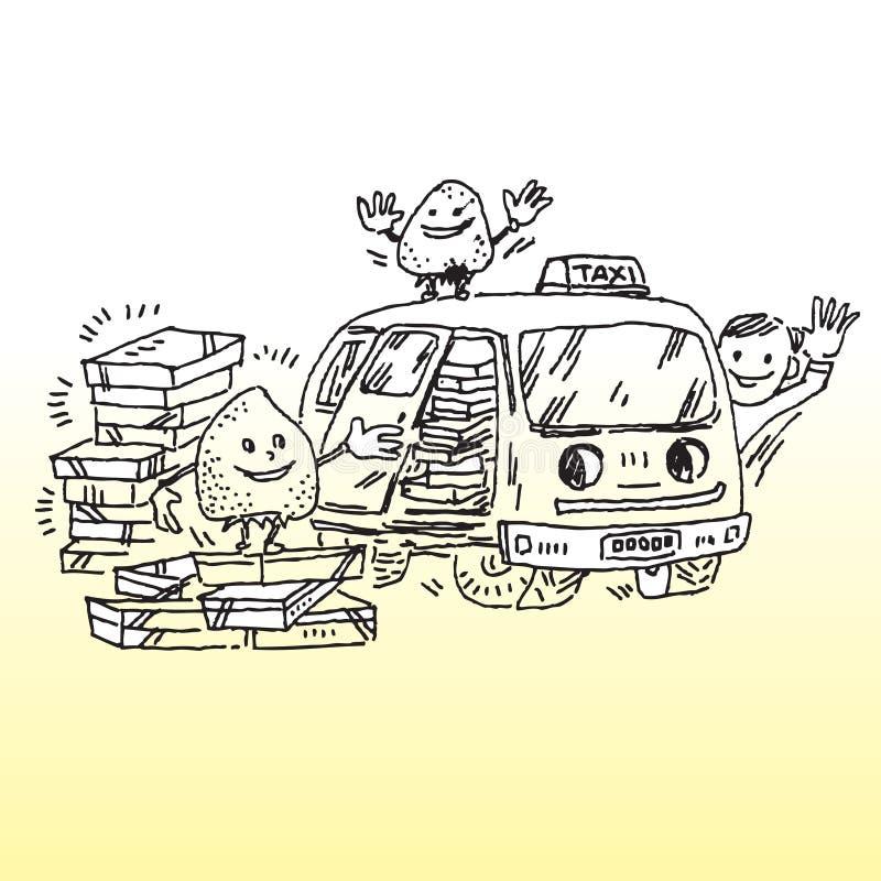 Taxi a entrega ilustração stock