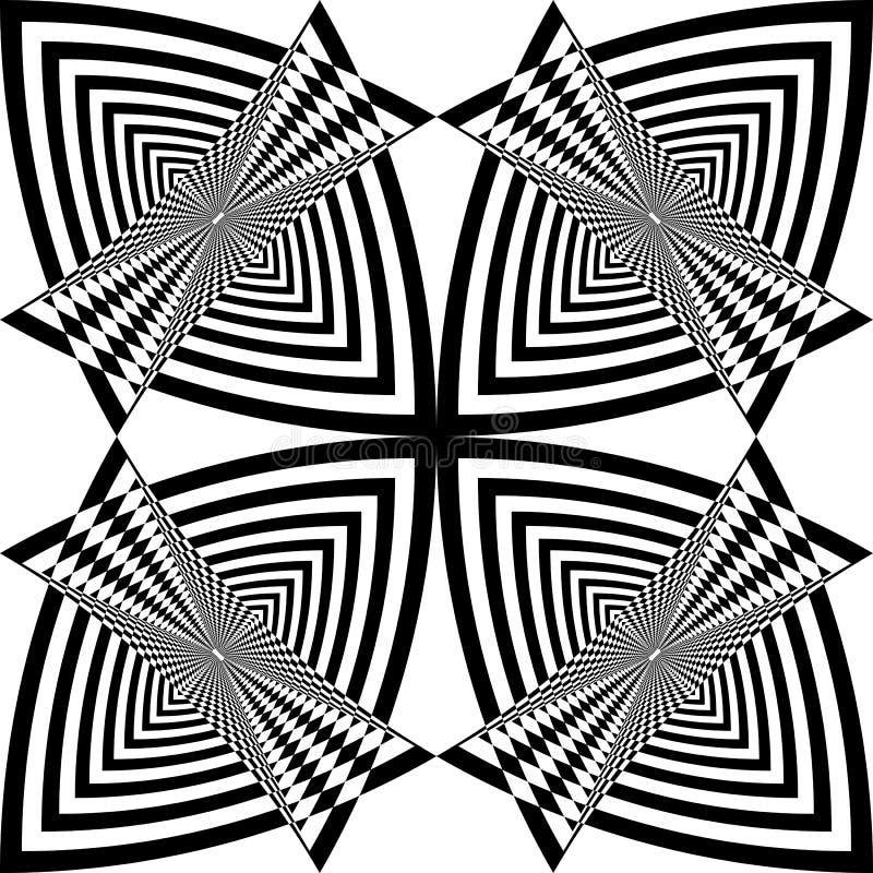 Taxi för Arabesquemålfjäril som abstrakt klippt art décoillustration vektor illustrationer