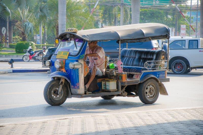 Taxi för TUK TUK Thailand. royaltyfri bild