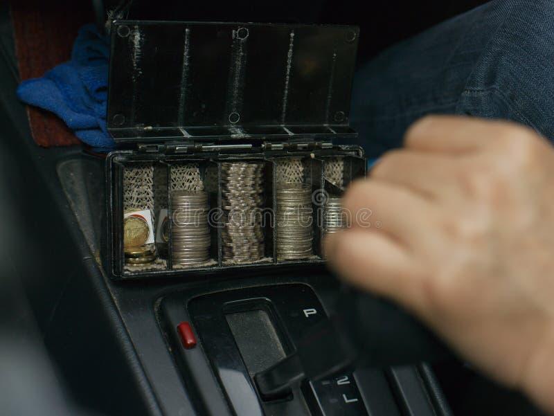 Taxi-Fahrer Hand stockfoto