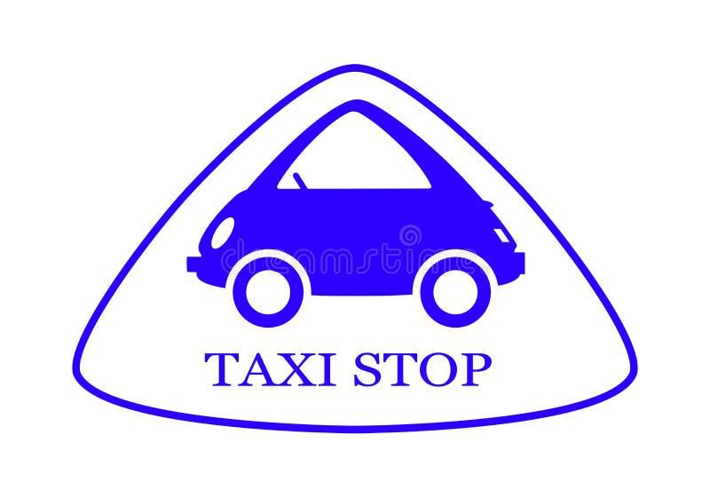 Taxi - fermata - segno - 8 immagine stock libera da diritti