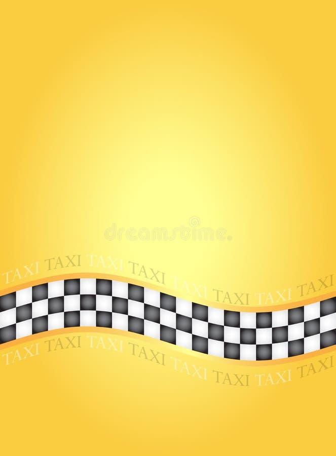 Taxi frame. Rectangle taxi frame, illustration royalty free illustration