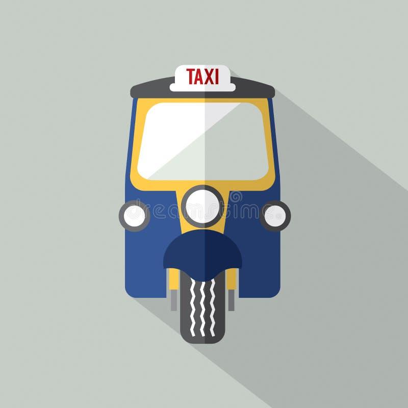 Taxi Front View dei triciclo illustrazione vettoriale