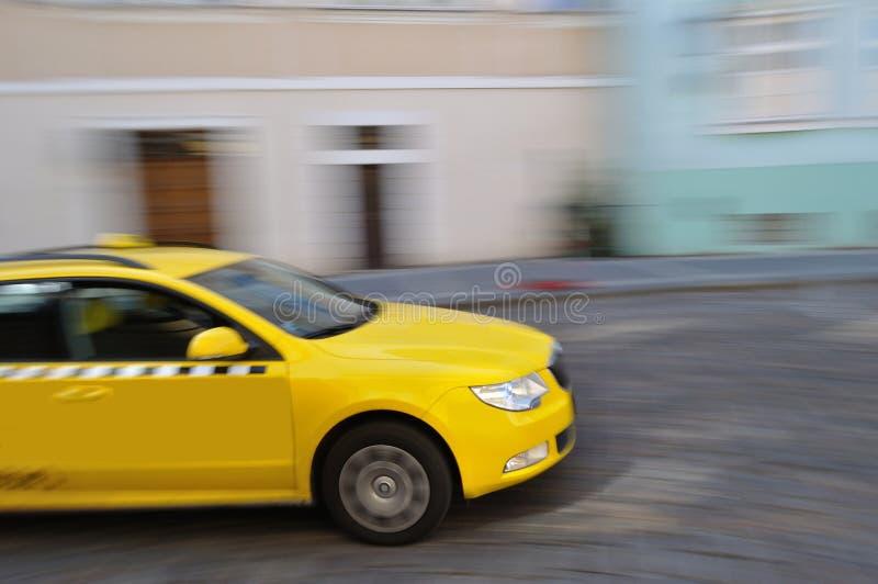 Taxi giallo fotografia stock libera da diritti