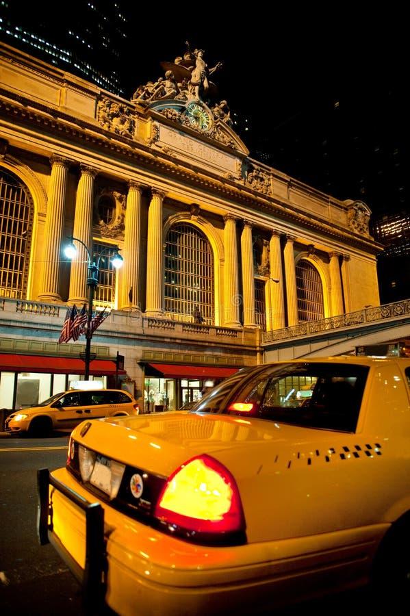 taxi grand central photo libre de droits