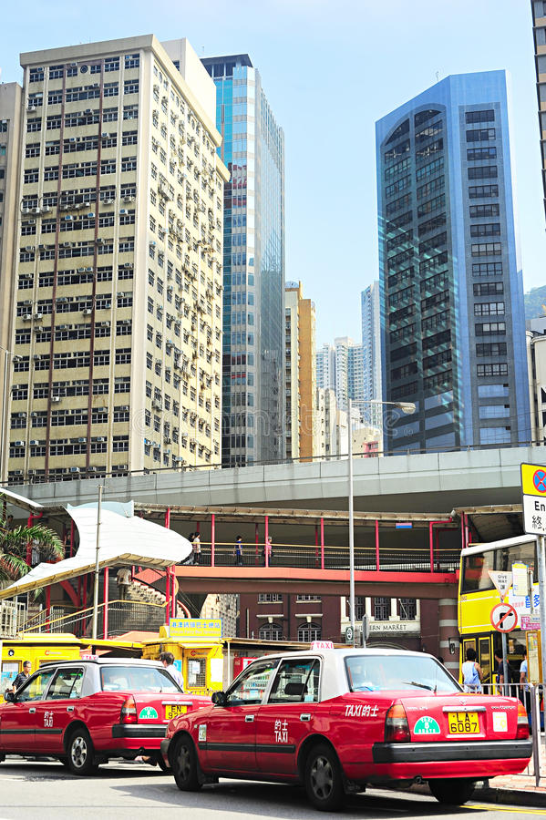 Taxi Hong Kong image stock