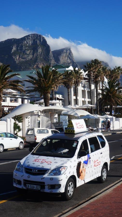 Taxi i Cape Town, Sydafrika royaltyfria bilder