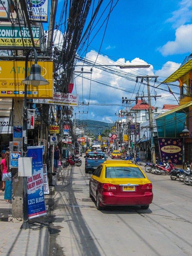 Taxi i Thailand arkivbild