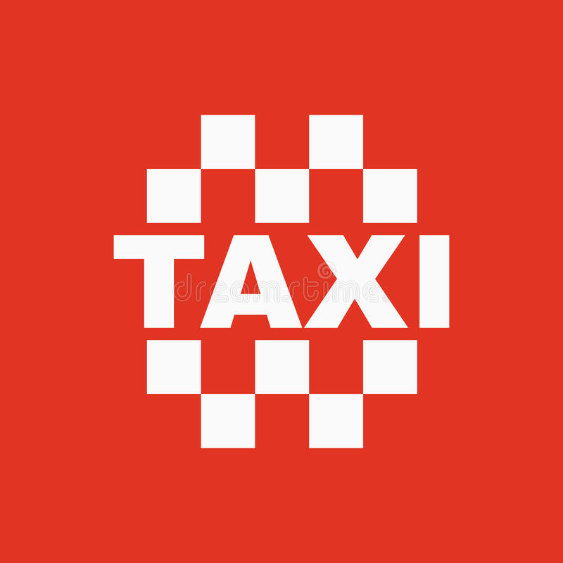 The taxi icon. Cab and taxicab symbol. Flat Vector illustration stock illustration